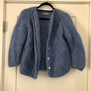 Periwinkle blue Italian mo hair / wool sweater
